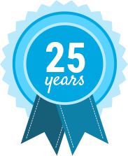 25 Years badge
